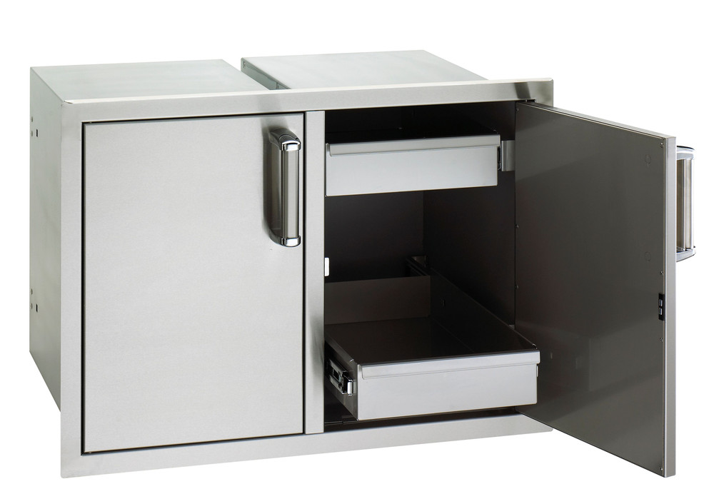 Fire Magic Double Doors with 2 Dual Drawers