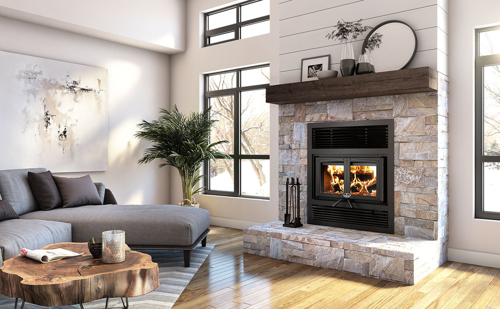 EVEREST II Wood Fireplace