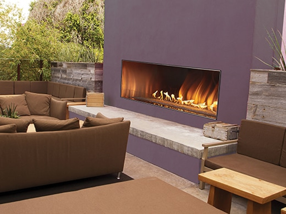 "White Mountain Hearth Carol Rose Coastal 48"" Linear Outdoor Fireplace"