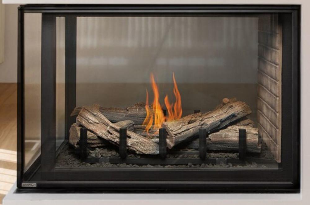 """Montigo Divine 38"""" Linear Burner Pier Gas Fireplace"""