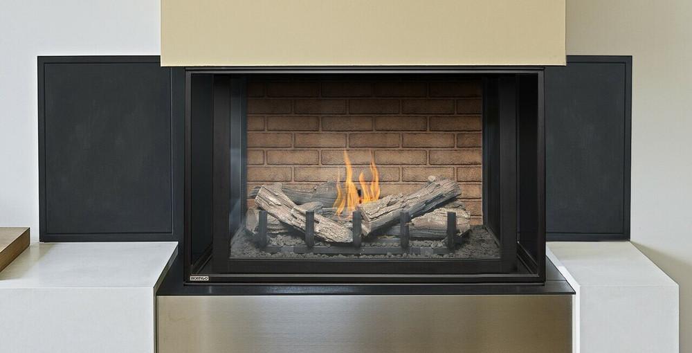 """Montigo Divine 38"""" Linear Burner Bay Gas Fireplace"""