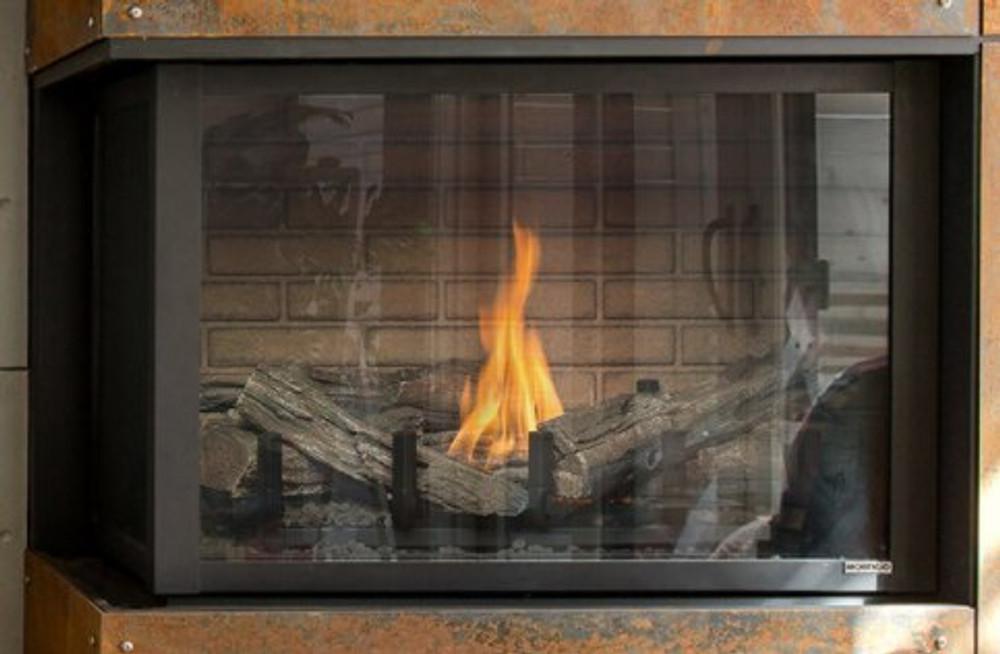 """Montigo Divine 38""""Linear Burner Corner Gas Fireplace"""
