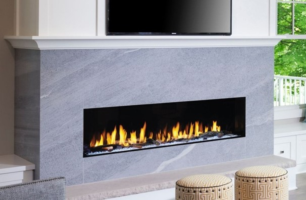 """Heat & Glo Primo 60"""" Direct Vent Gas Fireplace"""