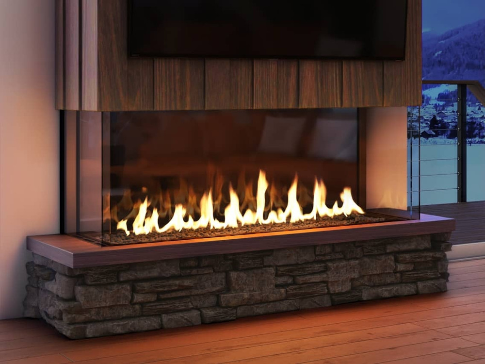 Heat & Glo Foundation Bay 4 Gas Fireplace