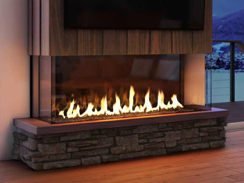 Heat & Glo Foundation Bay 6 Gas Fireplace