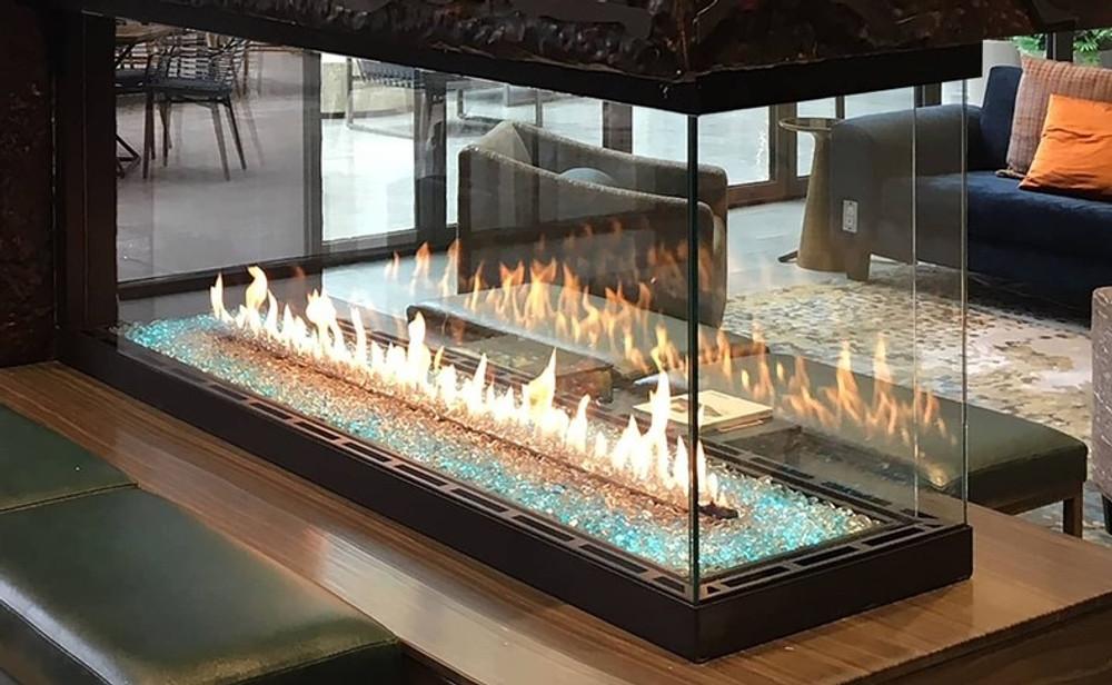 Heat & Glo Foundation Pier 6' Gas Fireplace
