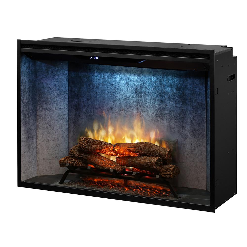 "Dimplex Revillusion 42"" Weathered Concrete  Built-In Firebox"