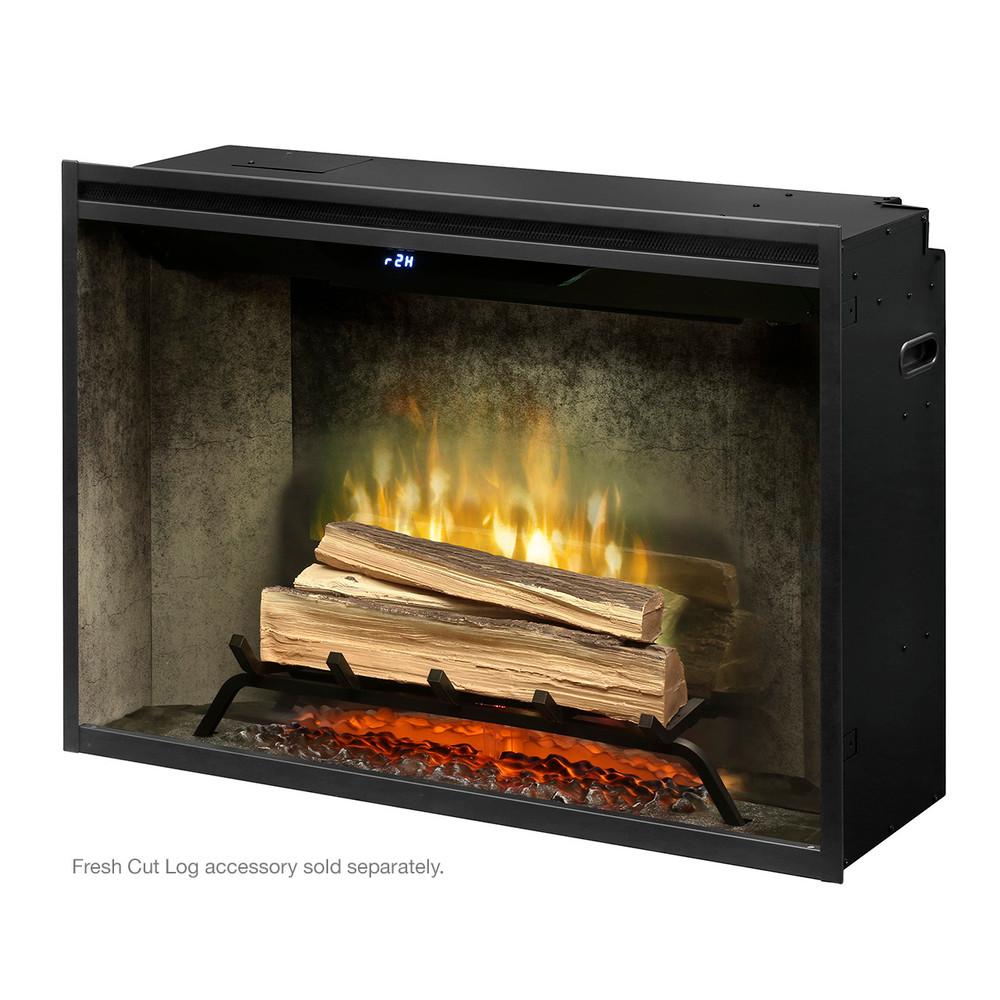 "Dimplex Revillusion 36"" Weathered Concrete Built-In Firebox"