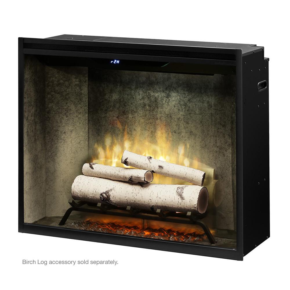 """Dimplex Revillusion 36"""" Weathered Concrete Portrait Built-In Firebox"""