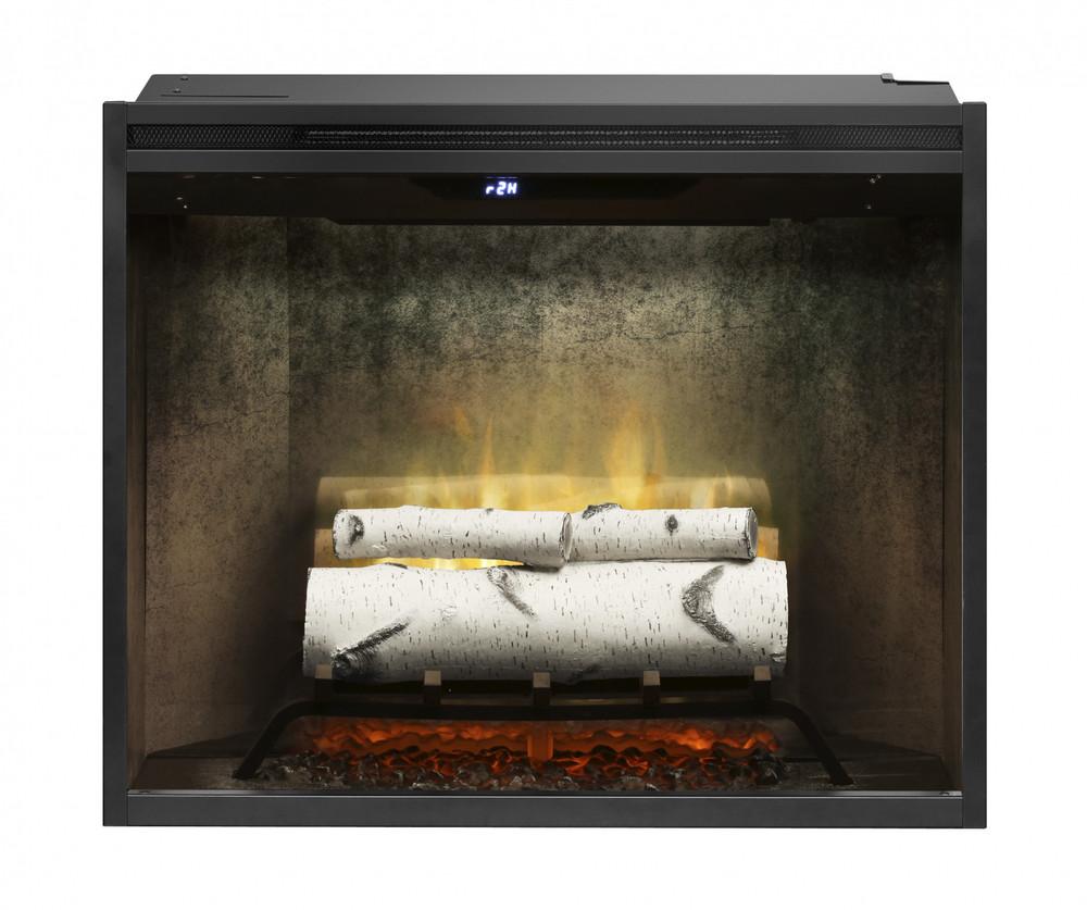 "Dimplex Revillusion 30"" Weathered Concrete Built-In Firebox"