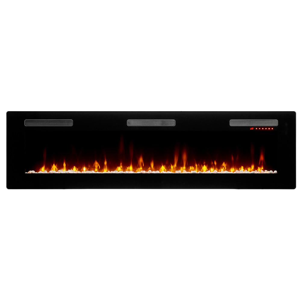 """Dimplex Sierra 72"""" Wall/Built-In Linear Fireplace"""
