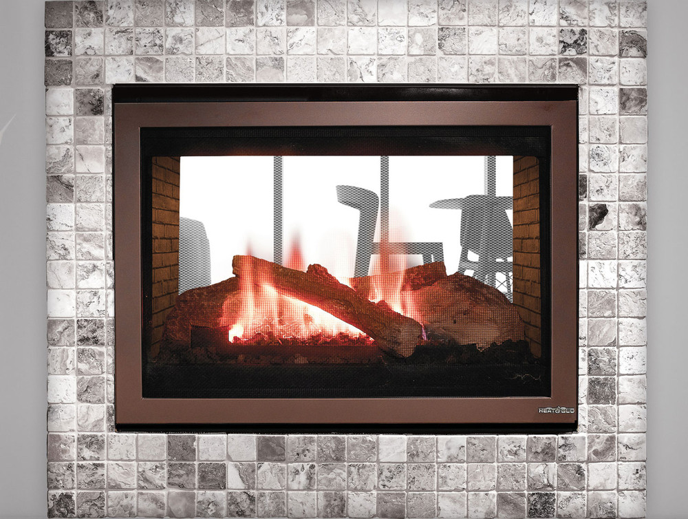 """Heat & Glo See-Through 32"""" Gas Fireplace"""