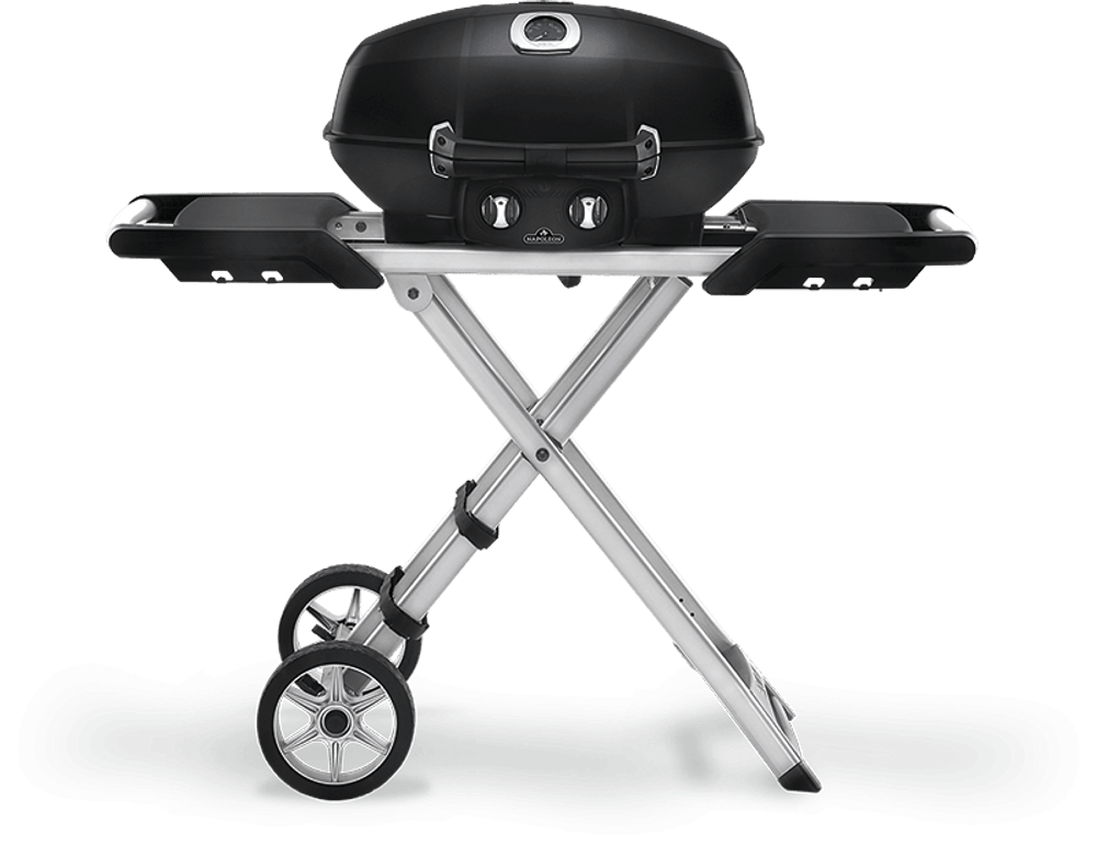 Napoleon TravelQ Pro285X Black Propane Grill With Scissor Cart