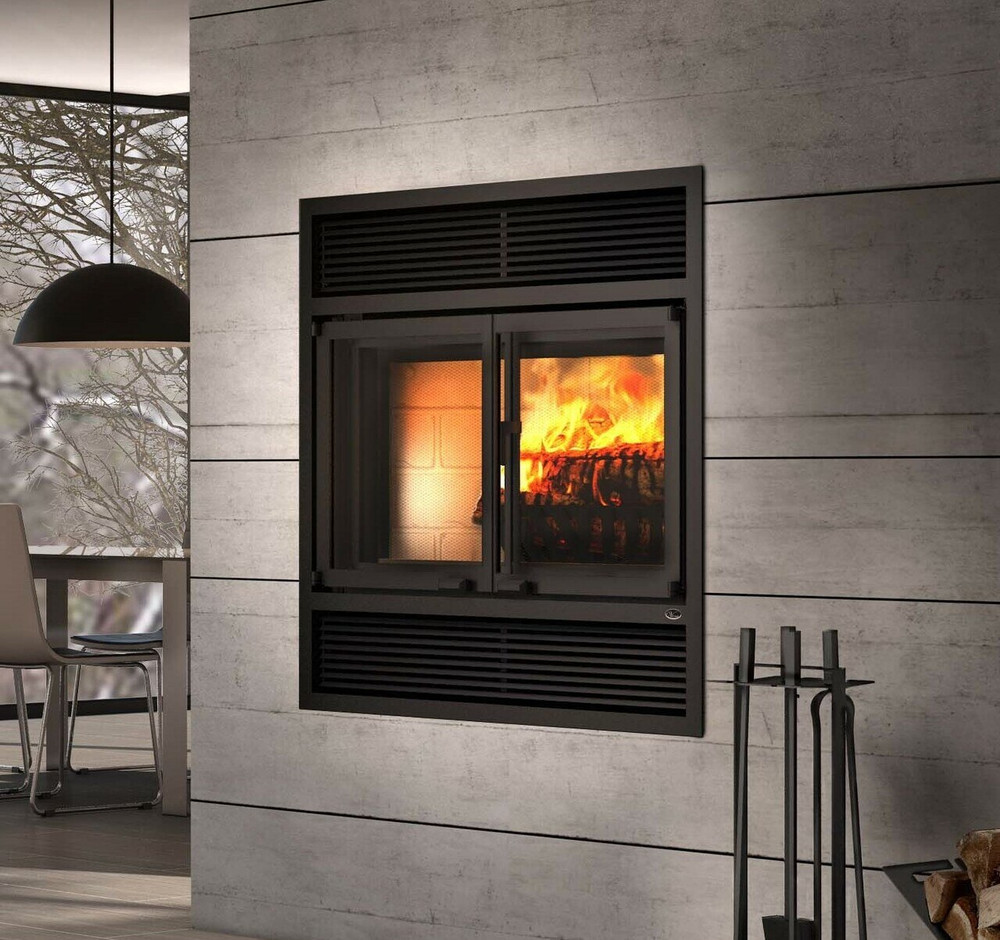 Valcout Beaumont Wood Fireplace w/ Folding Doors