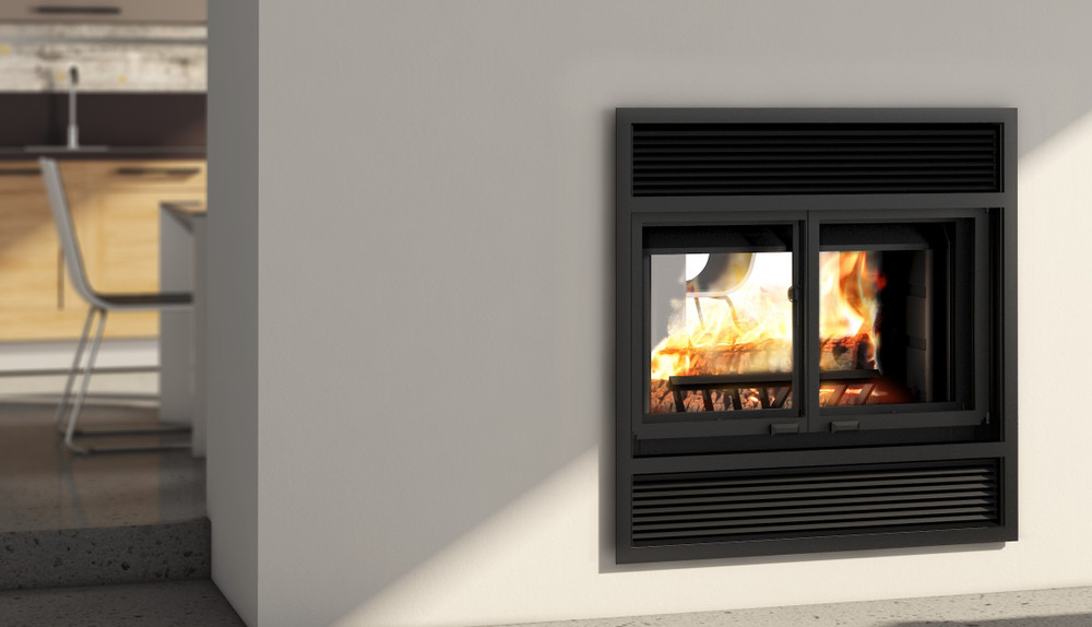 Valcourt Westmount See-Through Wood Fireplace