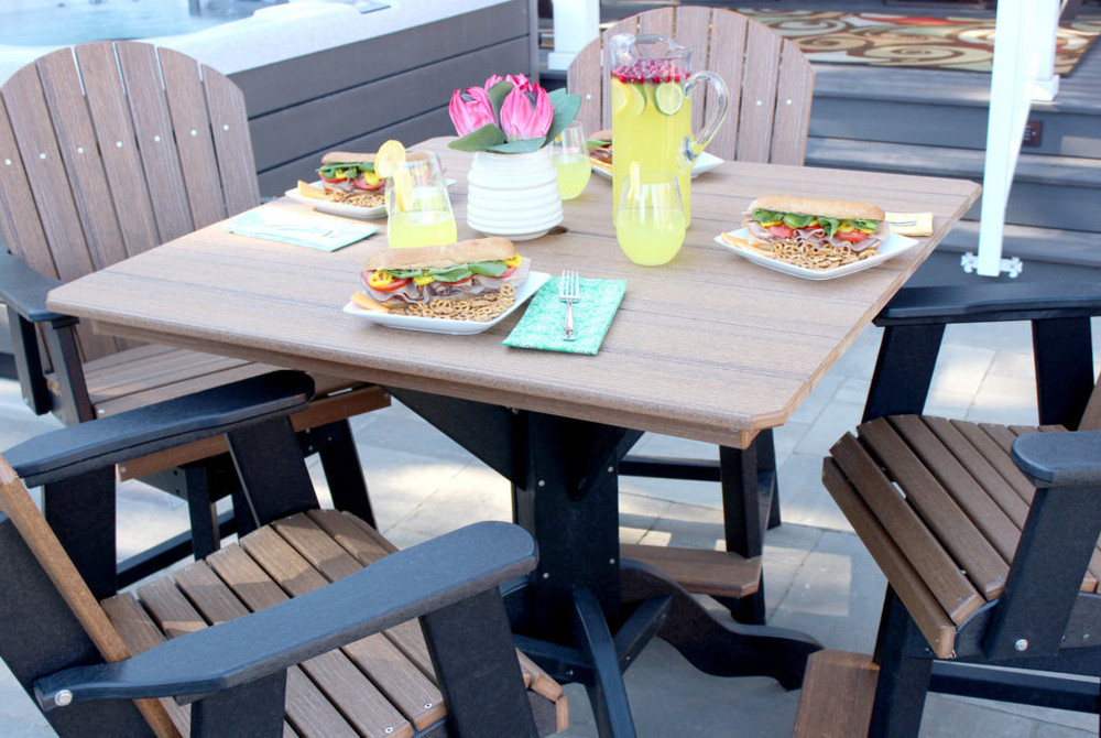 """Kanyon Living Dining Height 42"""" Square Table Set"""