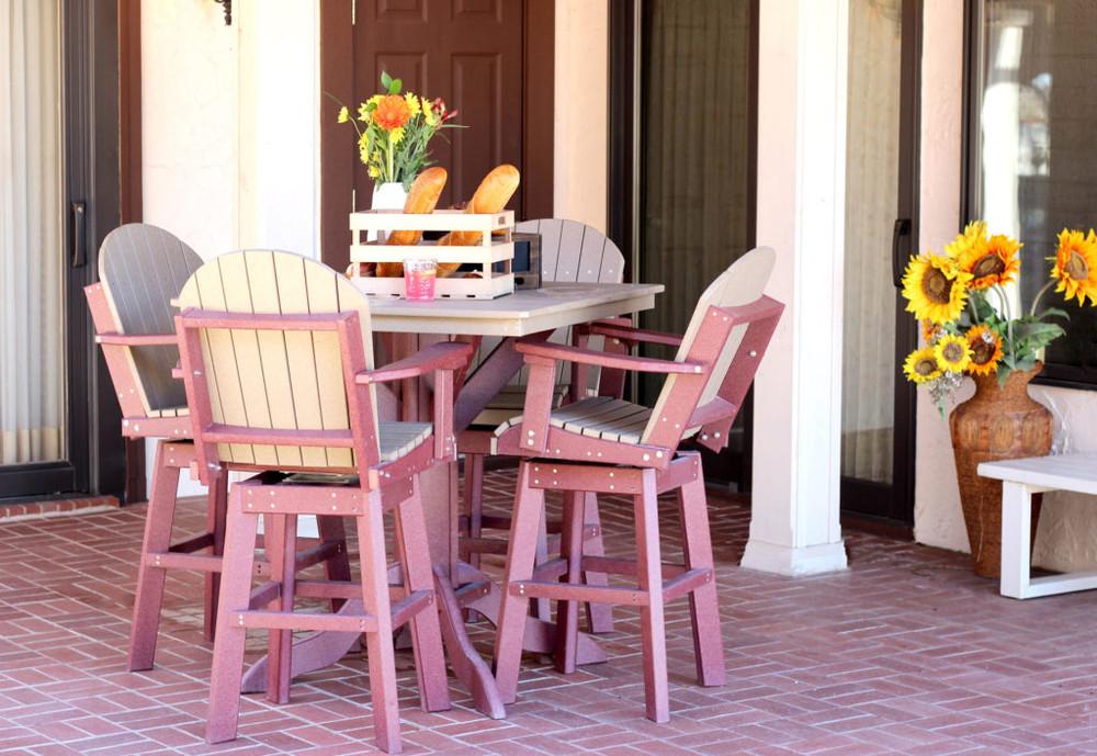 "Kanyon Living Bar Height 42"" Square Table Set"