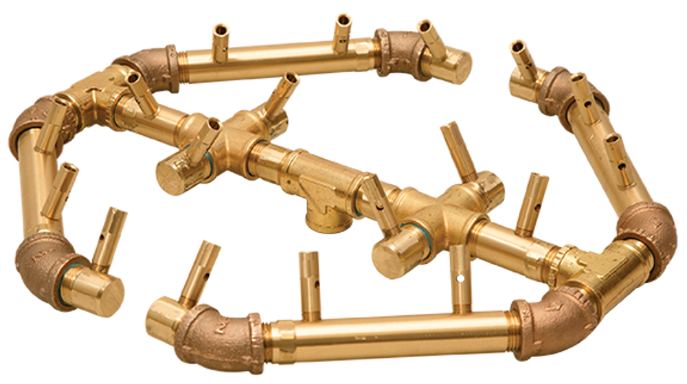 Warming Trends Octagonal Crossfire Brass Burner - CFBO180