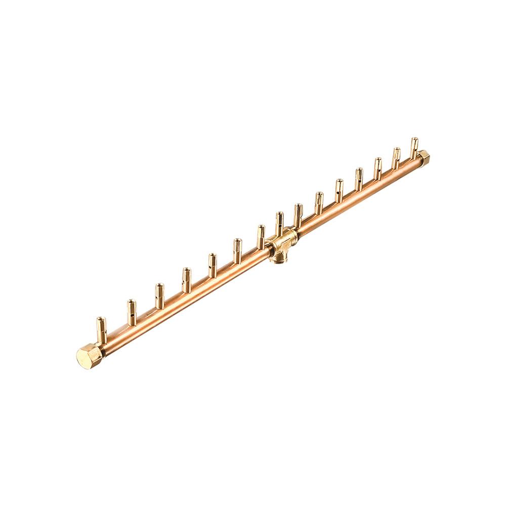 Warming Trends Linear Crossfire Brass Burner - CFBL150
