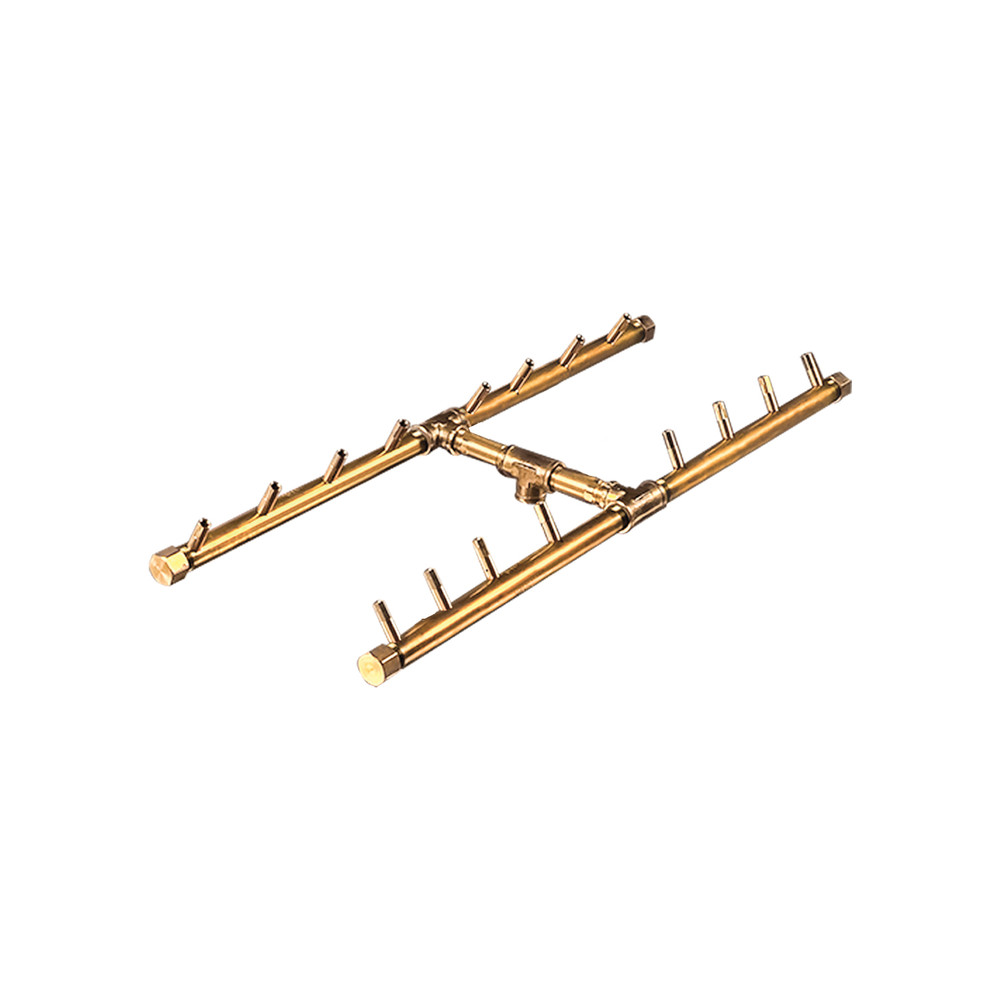 Warming Trends H-Style Crossfire Brass Burner - CFBH160