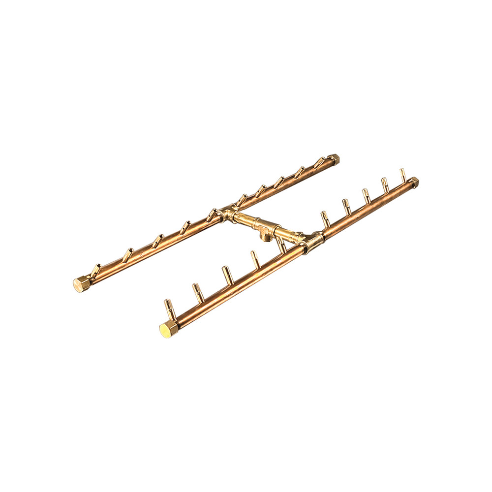 Warming Trends H-Style Crossfire Brass Burner - CFBH200