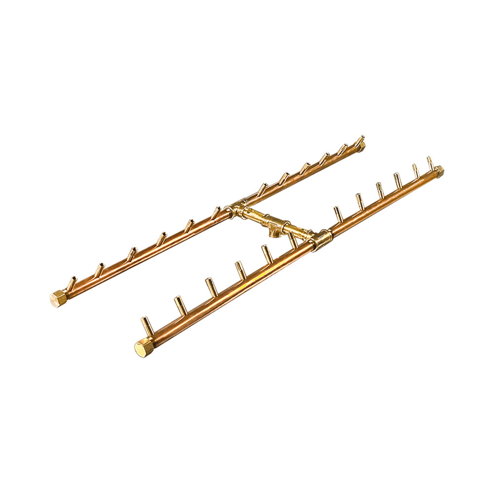 Warming Trends H-Style Crossfire Brass Burner - CFBH240
