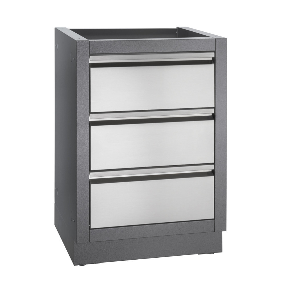 Napoleon OASIS Two Drawer Cabinet With False Top Drawer (Grey)