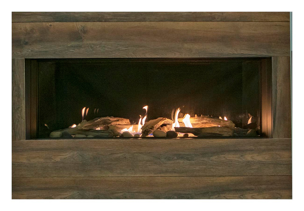 "Amantii Sierra Flame Vienna 40"" Linear Gas Fireplace"