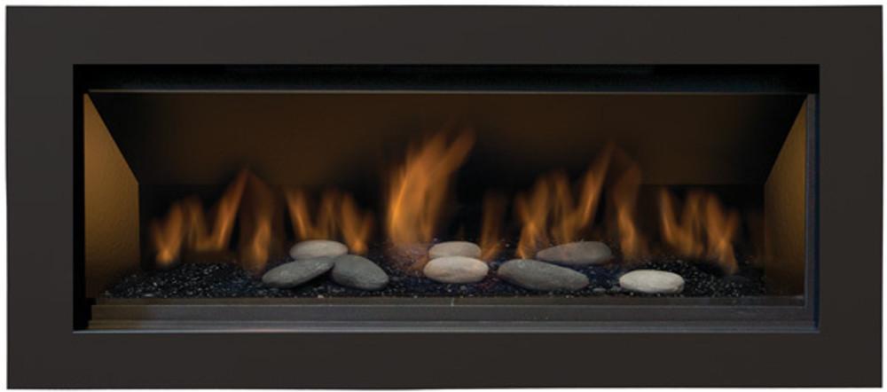 "Amantii Sierra Flame Bennet 45"" Linear Gas Fireplace"