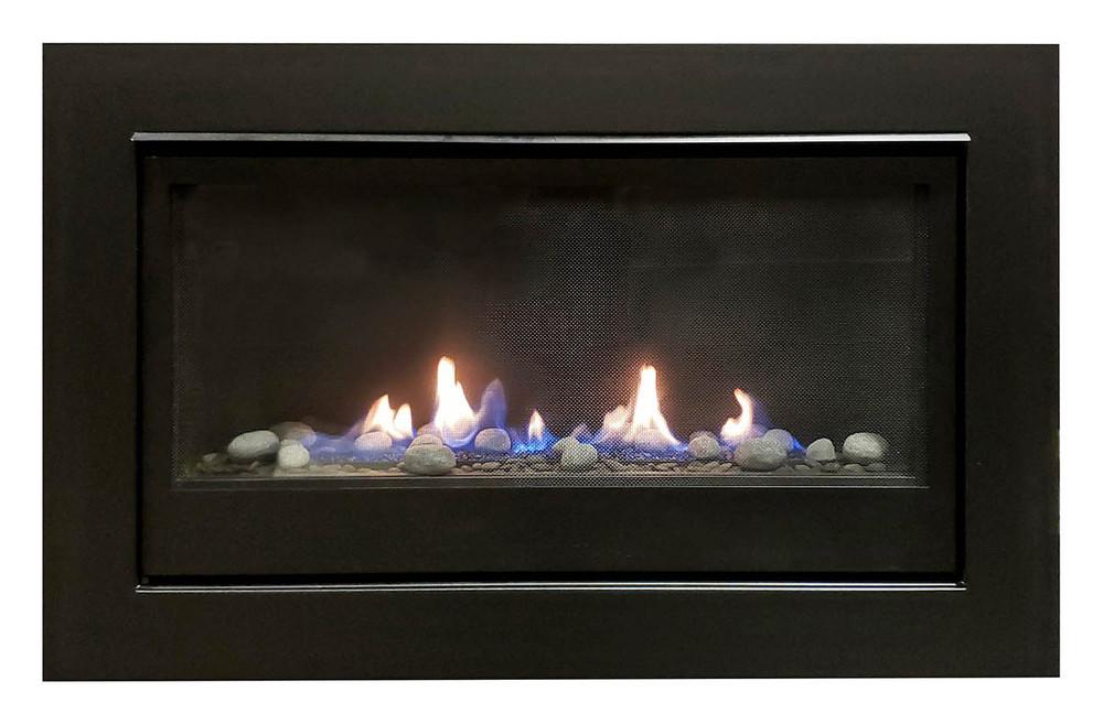 "Amantii Sierra Flame Boston 36"" Linear Gas Fireplace"