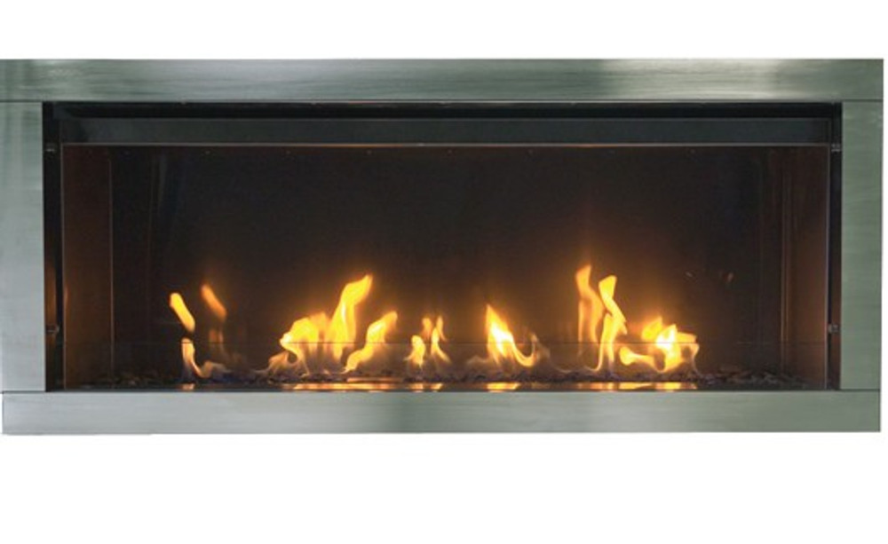 """Amantii Sierra Flame Tahoe 45"""" Linear See-Through Gas Fireplace"""