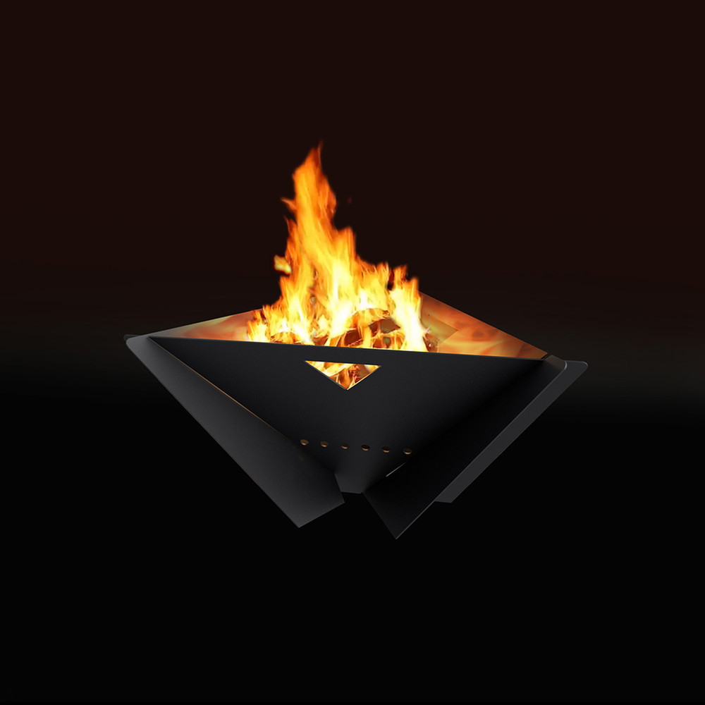 MF Fire Delta Fire Pit - Black