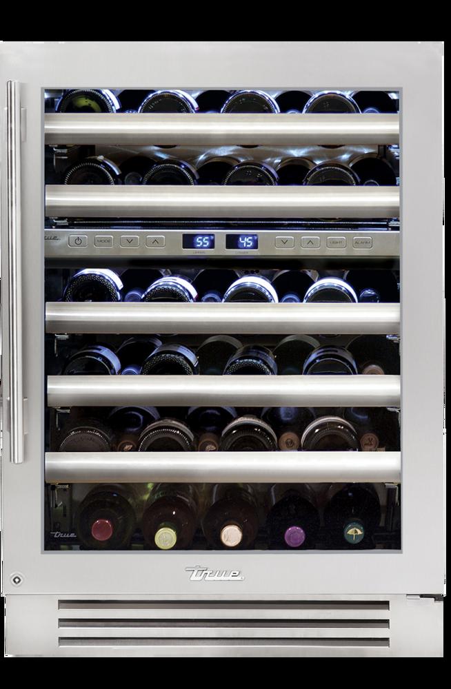 "True Residentail 24"" Dual Zone Wine Cabinet - 45 Bottle Capacity"