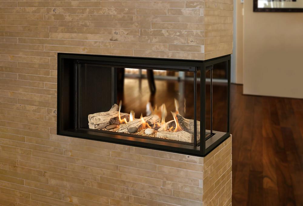 Valor 2100 LX1 3-Sided Pier Gas Fireplace