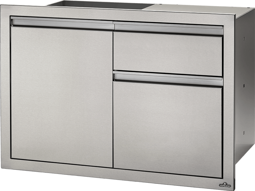 """Napoleon 36"""" X 24"""" Single Door & Waste Bin Drawer"""
