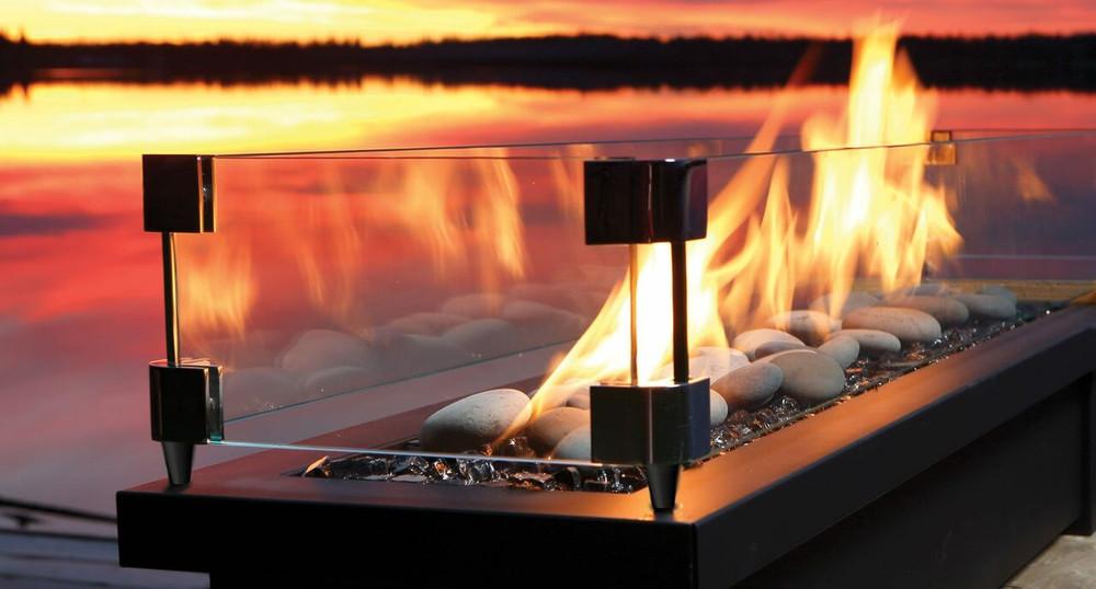 """Barbara Jean 36"""" Fire Stand w/ Linear Burner"""