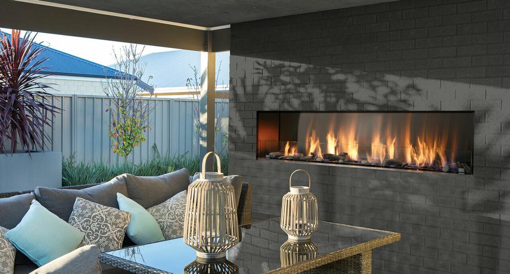 "Barbara Jean 72"" Outdoor Single/See-Through Linear Fireplace"
