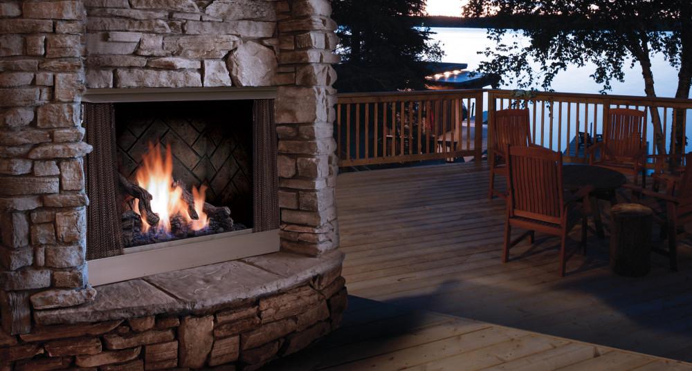 "Barbara Jean 42"" Zero Clearnece Outdoor Fireplace"