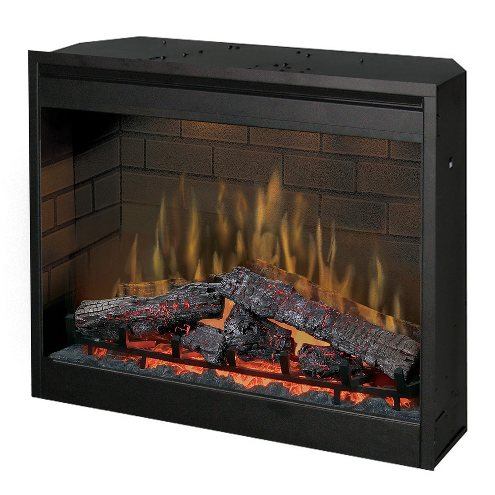 "Dimplex 32"" Multi-Fire Electric Firebox w/ Purifire & Glass Bi-Fold Door"