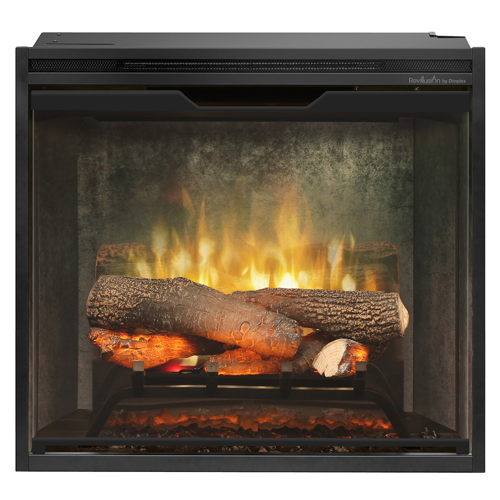 Dimplex Revillusion 24 inch Built-In Electric Firebox with Weather Concrete Backer