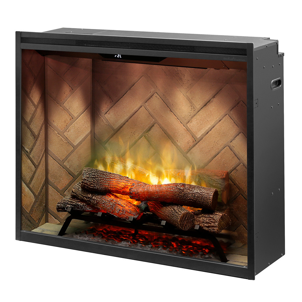 Dimplex Revillusion 36 inch Portrait Built-In Electric Firebox Herringbone Liner