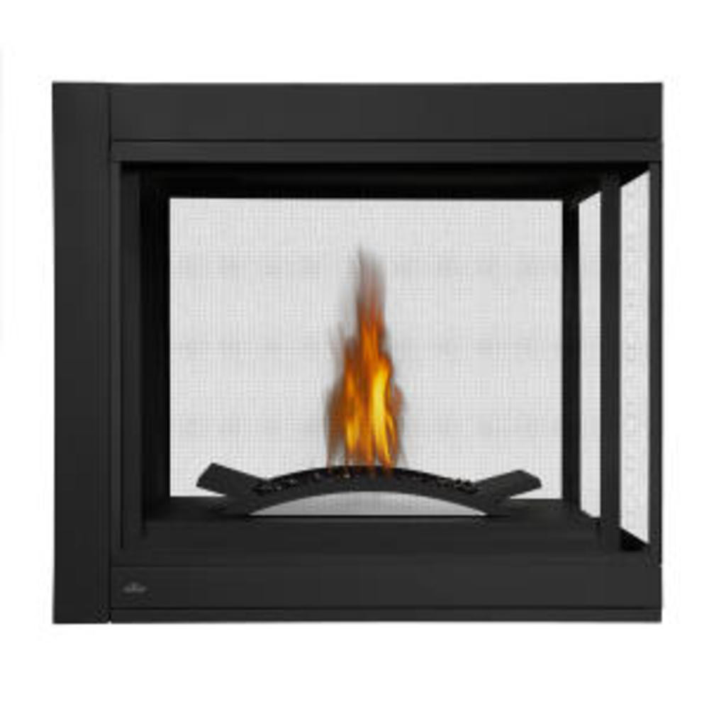 Napoleon Ascent Multi-View Peninsula Fire Cradle Gas Fireplace-BHD4PFCN
