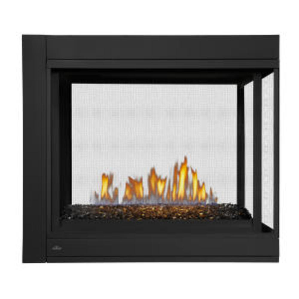 Napoleon Ascent Multi-View Peninsula Glass Bed Gas Fireplace-BHD4PGN