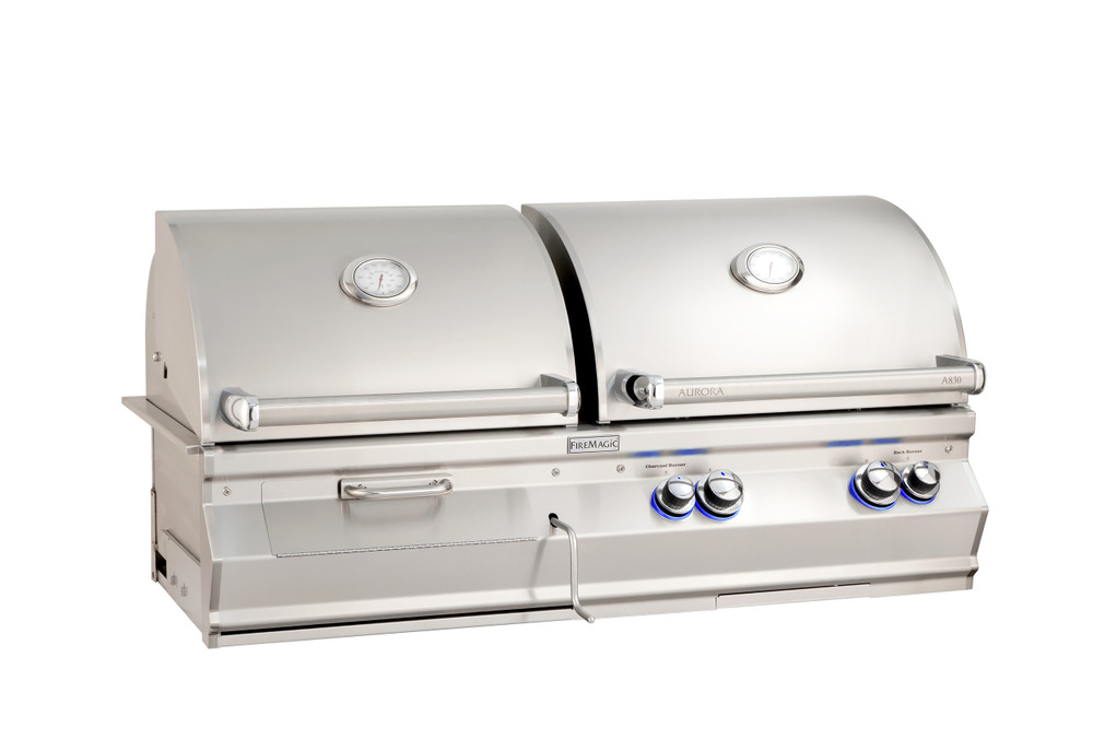 Fire Magic Aurora A830i-8 Gas/Charcoal Built-In Grill