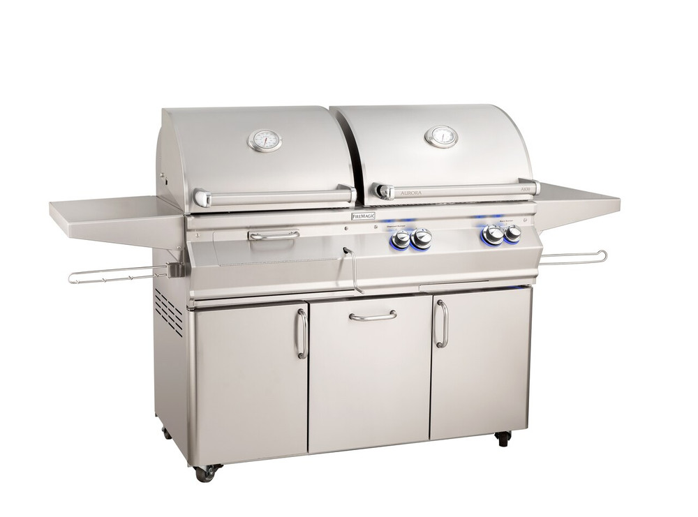 Fire Magic Aurora Gas/ Charcoal Grill Combo - A830s-7