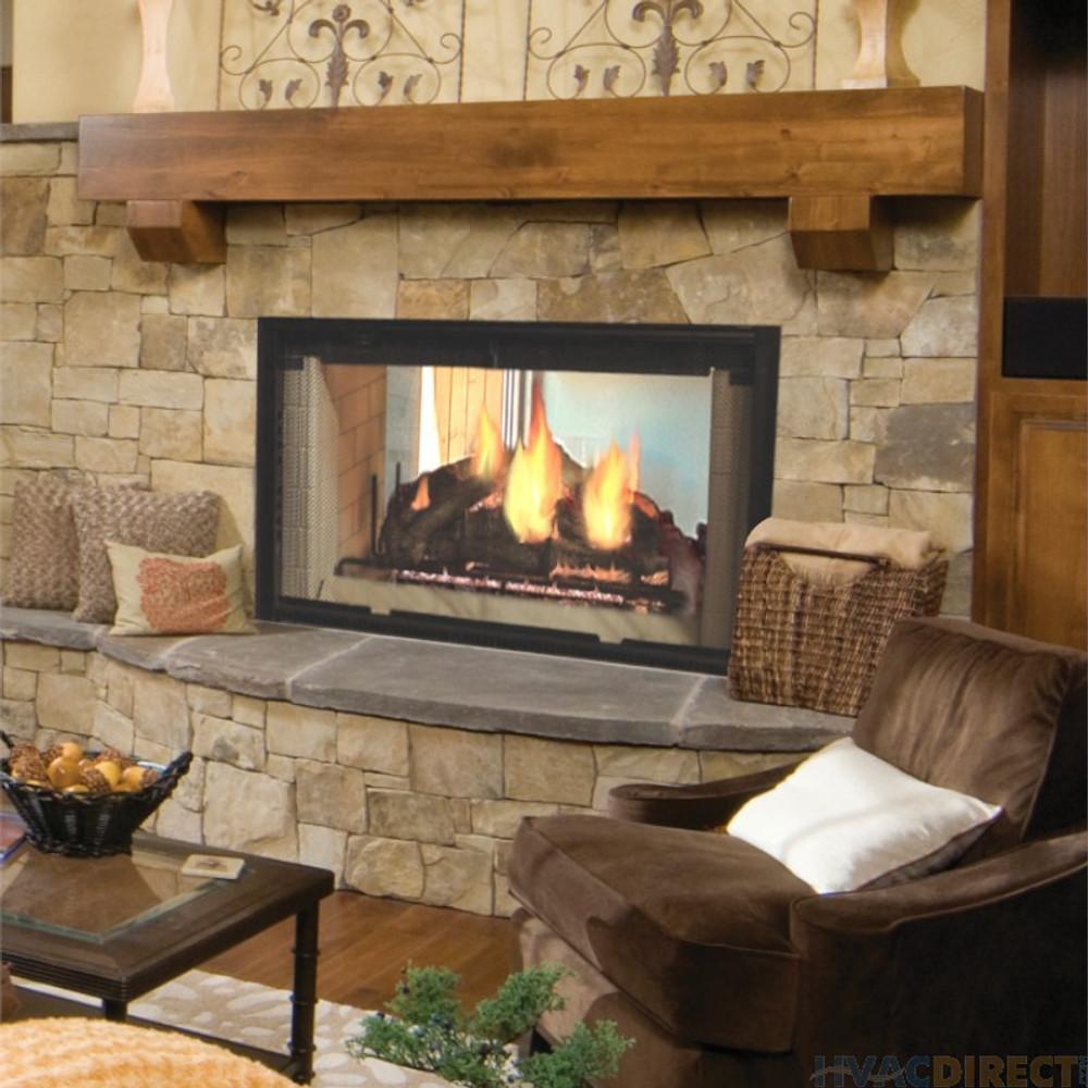 "Majestic Designer Series See-Thru 42"" Wood Fireplace"