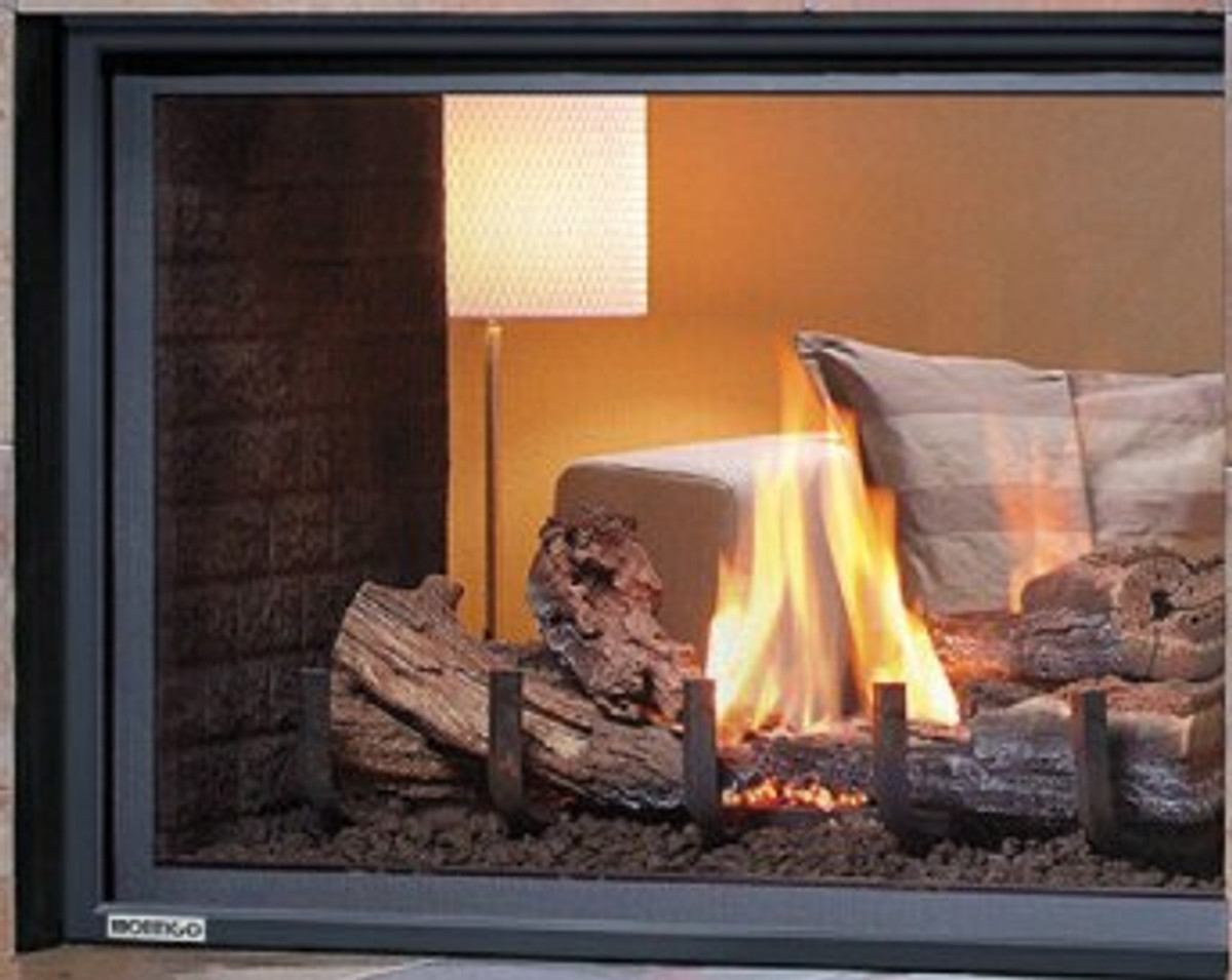 """Montigo Divine 38"""" IPI See-Through Gas Fireplace"""