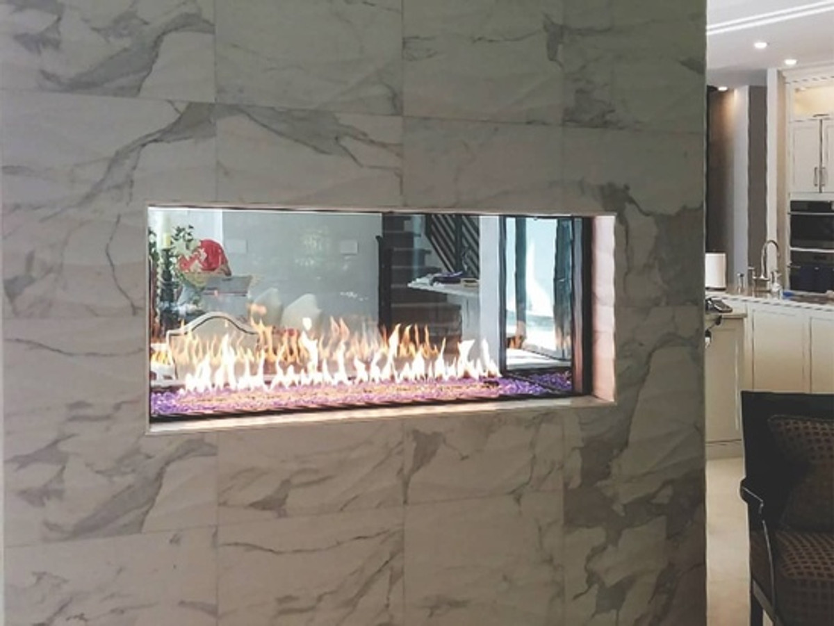 Heat & Glo Foundation See-Through 4' Linear Gas Fireplace