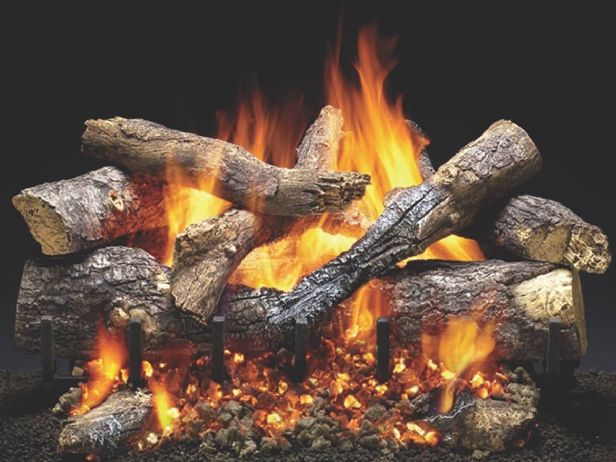 Heat and Glo Fireside Grand Oak Outdoor Gas Logset Burner