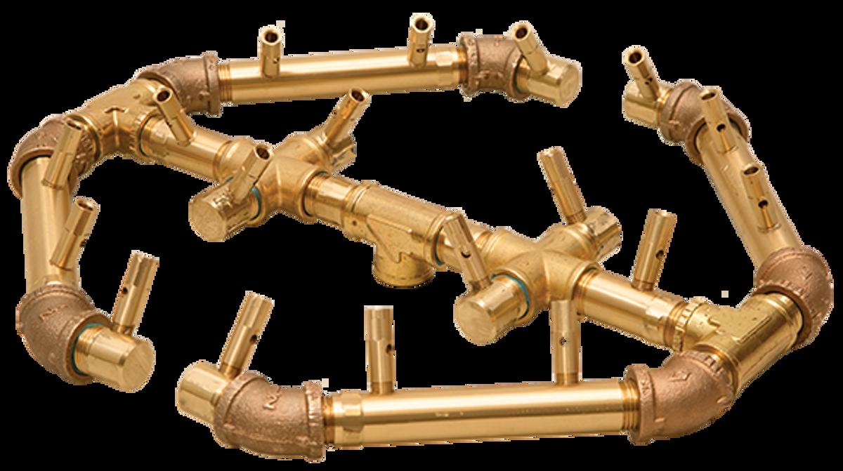 Warming Trends Octagonal Crossfire Brass Burner - CFBO180